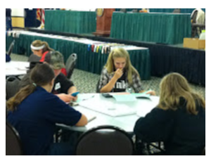 testing herd management knowledge at the Junior Dairy Management Contest