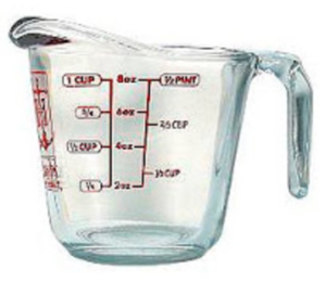 household measuring cup