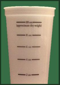 milk replacer measuring cup